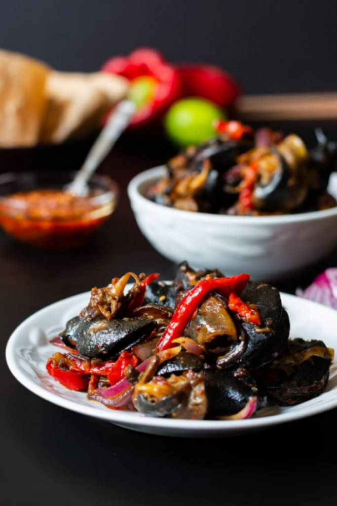 how to make peppered Snail