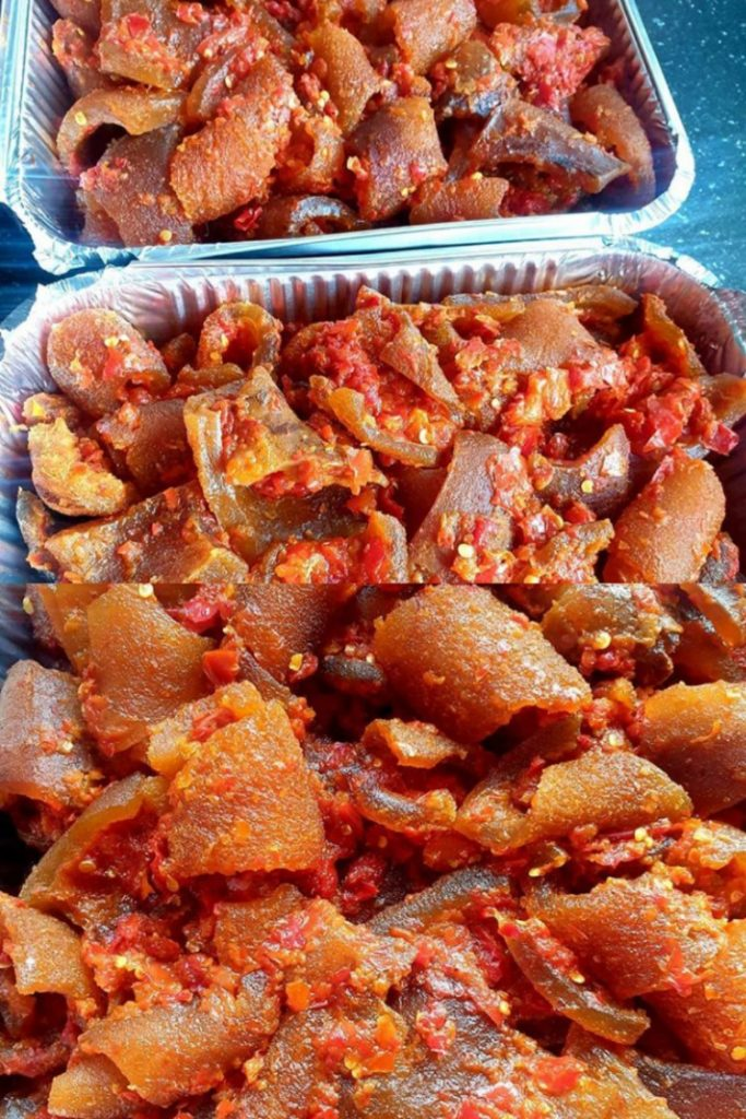 Peppered Ponmo Recipe: How To Make Peppered Kpomo