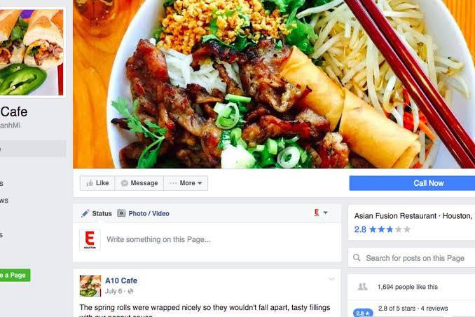 food page names facebook