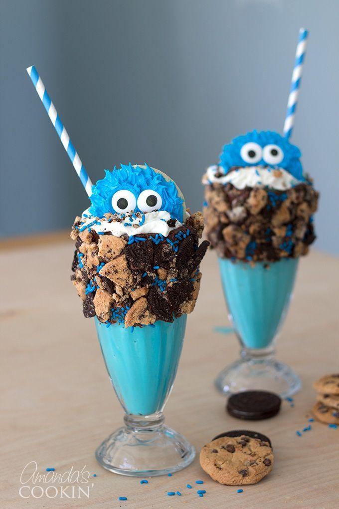 Cookie Monster Ice cream Milk shake